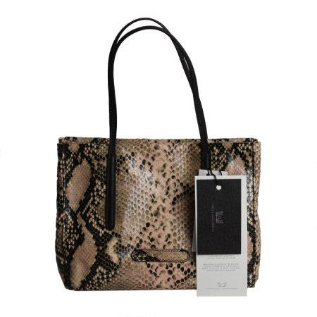 geanta de dama din piele naturala pitone nud