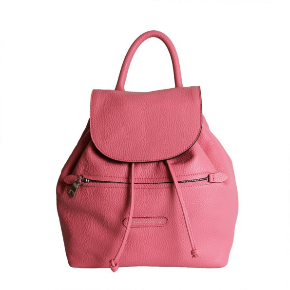 rucsac de dama din piele naturala roz deschis 2626-37-66nk