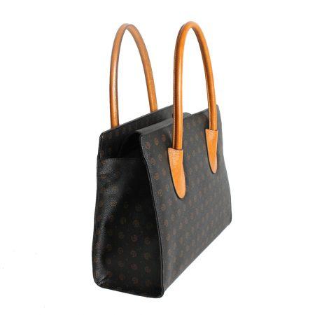 geanta ieftina de dama din piele si canvas 3101 lateral