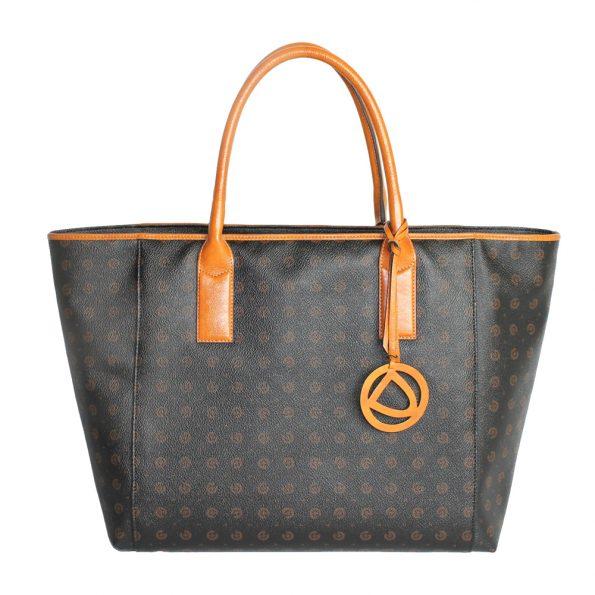 geanta ieftina de dama din piele si canvas 8456 mare 8456-100-53oro
