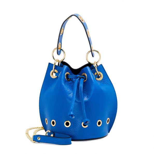 geanta dama de mana albastra cu lant H5835-20ORO
