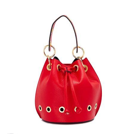 geanta dama de mana rosie cu lant