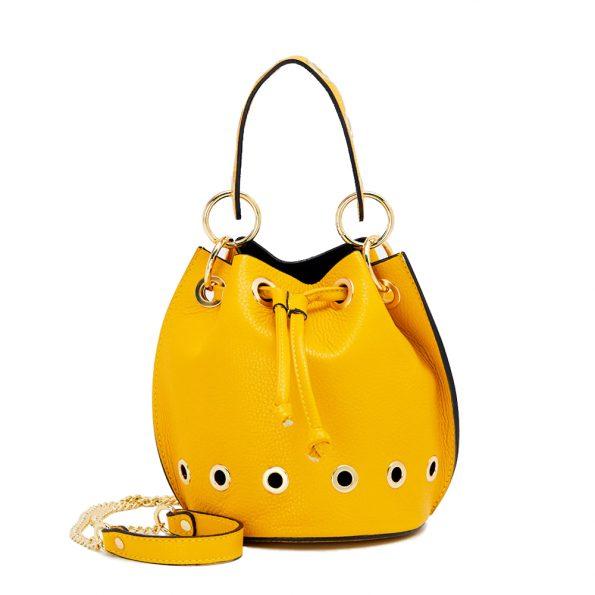 geanta dama de mana galbena cu lant H5835-80ORO