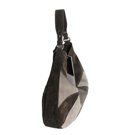 geanta dama din piele naturala dellaconte patchwork lateral
