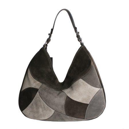 geanta dama din piele naturala dellaconte patchwork spate