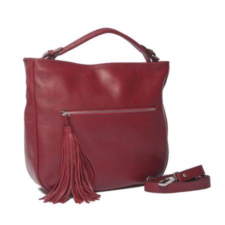 geanta de dama - croco unicat rosie lateral