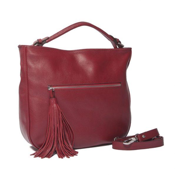 geanta de dama  – croco unicat rosie lateral 112