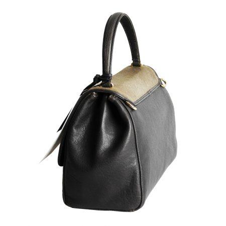 geanta dama din piele naturala lateral