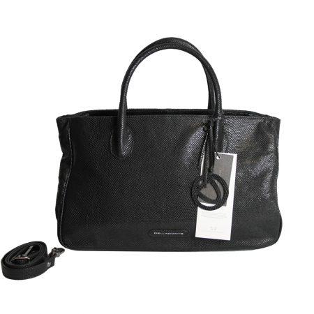geanta dama din piele snake neagra