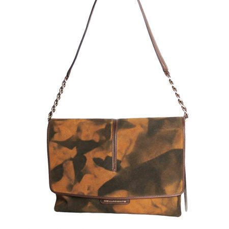 geanta dama din piele naturala dellaconte orange special