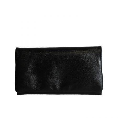 geanta plic din piele naturala neagra