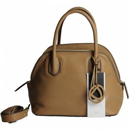 geanta dama din piele naturala dellaconte crem