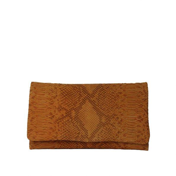 geanta plic din piele naturala piton 8446-26-49ORO