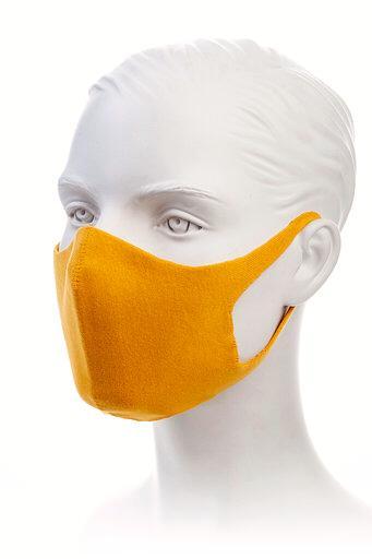 Masca protectie din bumbac Galbena